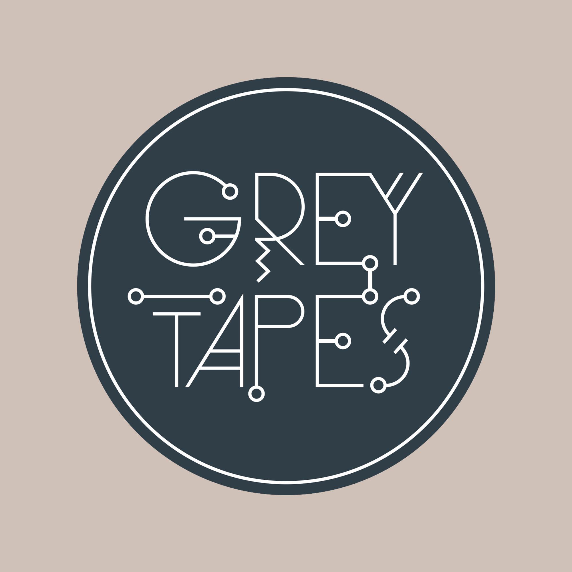 Grey Tapes logo identity