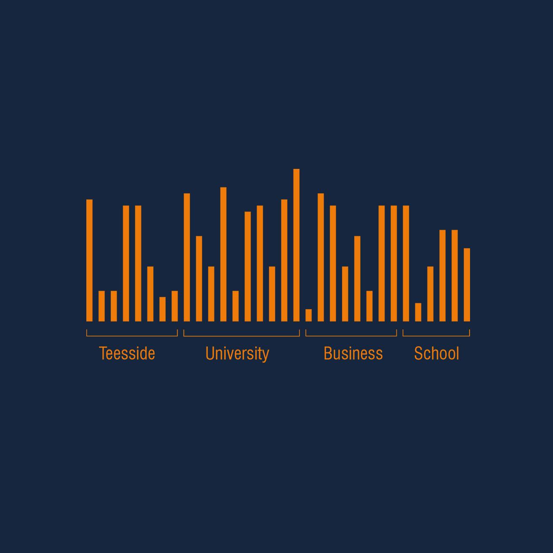 Teesside University Business School DNA visual language design
