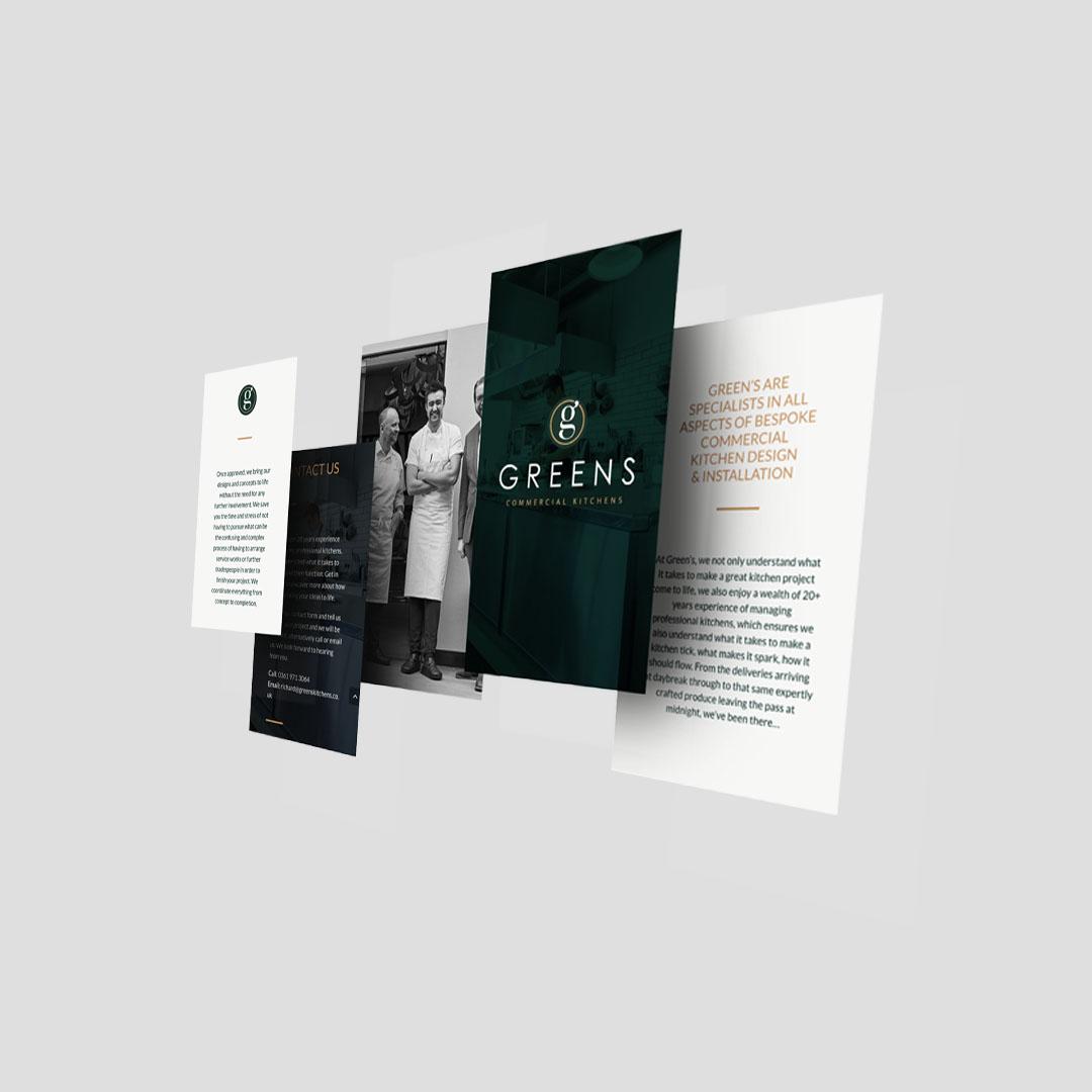 Greens commercial kitchens wordpress website design